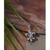 """Kanishka Women's Necklaces Silver - Sterling Silver Fleur-de-Lis Pendant & 18"""" Chain"""