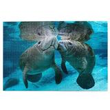 RSADGER The Kiss Between Cute Manatee Couple Christmas Puzzles for Adults 1000 Piece Kids Game Toys Gift Home Decor