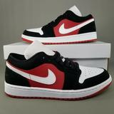 Nike Shoes | Nike Air Jordan 1 Low Shoes Womens 11.5 Black Red | Color: Black/Red | Size: 11.5