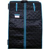 "Magic Home Single Person FAR Infrared Sauna, Polyester in Blue/Black, Size 27"" L x 31.5"" W x 38.6"" H 