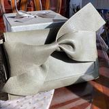 Anthropologie Bags   Anthropologie Bella Bow Clutch Green Vegan Leather   Color: Green   Size: See Description