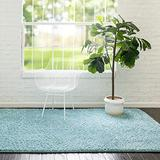 Rugs.com Everyday Shag Rug – Turquoise 5x8 Shag Rug Perfect for Bedrooms, Dining Rooms, Living Rooms and More