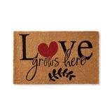 Love Grows Coir Door Mat - Grandin Road