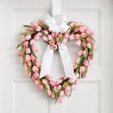 Tulip Heart Wreath - Red - Grandin Road