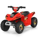 Costway 6V Kids Electric ATV 4 Wheels Ride-On Toy -Red