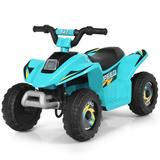Costway 6V Kids Electric ATV 4 Wheels Ride-On Toy -Blue