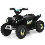 Costway 6V Kids Electric ATV 4 Wheels Ride-On Toy -Black