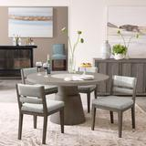 """Delacora HM-D233-142-SET2 Sweetwater 20"""" Wide Rustic Contemporary Upholstered Dining Chairs - Set of"""