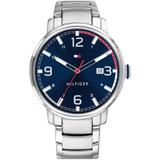 Stainless Steel Bracelet Watch 44mm, Created For Macy's - Metallic - Tommy Hilfiger Watches
