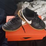 Nike Shoes | Boys Nike Indoor Soccer Cleats | Color: Black/White | Size: 3bb