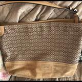 Coach Bags   Coach Signature Bag, Medium Sized Suede Bottom   Color: Cream/Tan   Size: Os