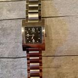 Gucci Accessories | Gucci 7700 Black Dial Stainless Steel Quartz Watch | Color: Silver | Size: Os