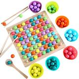 SHZONS Puzzle Magic Chess Toy Rainbow Ball Elimination Board Game Rainbow Chess Board Games Colorful Puzzle Magic Chess Toy Set Educational Interaction Matching Game for Kid Parent