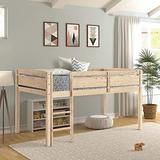 Loft Beds for Kids, Twin Wood Loft Bed, Twin Wood Loft Bed Low Loft Beds for Kids with Ladder,Twin (Natural)