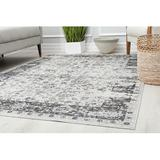 Ophelia & Co. Lavalley Floral Power Loom Indoor/Outdoor Area Rug Polypropylene in White, Size 48.0 H x 30.0 W x 0.5 D in | Wayfair