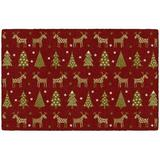 The Holiday Aisle® Holiday Delight Kitchen Mat Plastic in Gray, Size 0.3 H x 30.0 W x 46.0 D in   Wayfair 74410049525A47FEA827353830ACEA37
