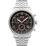Flyboy Silver-tone Solid Stainless Steel Bracelet Watch, 42mm - Metallic - AVI-8 Watches