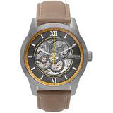 Jonas Black Dial Tan Leather Watch - Metallic - Heritor Watches