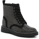 Kurrt Combat Boot - Black - Madden Girl Boots