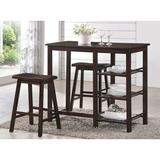 Winston Porter Morral 3 - Piece Counter Height Dining Set Wood in Brown, Size 36.0 H x 19.0 W x 43.0 D in | Wayfair