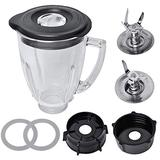 Replacement Parts Compatible with Oster Blender, 6 Cup Glass Blender with Ice Blade,Bottom Cap,Rubber Gasket Kit Compatible with Oster Osterizer Blender Accessories