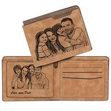 Personalized Photo Wallet,Custom Engraved Wallet for Men,Husband,Son,Fathers Day