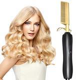 Hot Comb Hair Straightener Heating Comb Straightener Electric Hot Comb Flat Iron Hair Straightening Brush Smoothing Iron Comb Hair Straightener Brush