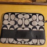 Coach Bags   Coach Tablet Laptop Sleeve   Color: Black/Gray   Size: 13.5 X 10.5 X 1