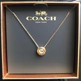 Coach Jewelry | Coach Logo Open Circle Necklace Gold Color | Color: Gold | Size: 16 - 18