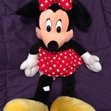 Disney Other | Euc Disneys Minnie Mouse Plush Toy | Color: Black/Red | Size: App 26 X 7