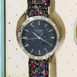 Kate Spade Accessories | Kate Spade Blue Dial Leather Bands Watch Set | Color: Blue/Silver | Size: Os