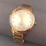 Kate Spade Jewelry | Kate Spade Metro Scalloped Face Gold Watch | Color: Gold | Size: Os