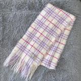 Burberry Accessories | Authentic Burberry Scarf Womens Or Girl Multi | Color: Cream/Pink | Size: 8 Wide By 76 Total Length
