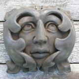 Nichols Bros. Stoneworks French Greenman Plaque Wall Decor Concrete in Gray, Size 7.5 H x 7.5 W x 4.5 D in | Wayfair GNGMF-AG