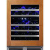 XO Appliance 46 Bottle Dual Zone Freestanding Wine Refrigerator in Gray, Size 34.13 H x 23.75 W x 23.88 D in | Wayfair XOU24WDZGOR
