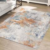 17 Stories Ellendale Multicolor Indoor/Outdoor Area Rug Polypropylene, Size 84.0 H x 60.0 W x 0.5 D in | Wayfair 486090771D72460CB266EA5029B62C57
