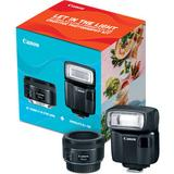 Canon EF 50mm f/1.8 STM Lens + Speedlite EL-100 Creative Photography Kit 0570C027