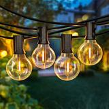 50FT LED G40 Globe String Lights, Shatterproof Outdoor Patio String Lights 2200K with 50+2 Dimmable Edison Bulbs, 50 Backyard Hanging Lights, Bistro Light Waterproof for Balcony Party Wedding Market