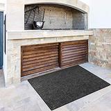 Kexle Fire Resistent Fireplace Hearth Rug, Gas Grill Splatter Mat Multi-Layered Flame Retardant Carpet, Non Slip Rectangular Hearth Fireplace Area Rug Fireproof Blanket (30''x48'')