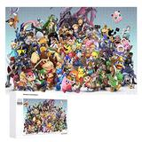 Wooden Jigsaw Puzzles Difficult 500/1000 Pieces,Smash Bros Pikachu Link Zelda Mario Kirby Sonic,Cute Cartoon Anime Game Entertainment DIY Toys Creative Gift Home Decor for Adult and Kids,Boys,Girls