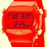Adidas Accessories   Adidas Men'S Adh6061 Red Candy Digital Watch   Color: Gold/Red   Size: Os