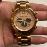 Michael Kors Accessories | Michael Kors Rose Gold Chronograph Watch | Color: Gold | Size: Os