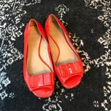 Kate Spade Shoes   Kate Spade Peep-Toe Flats   Color: Red   Size: 8