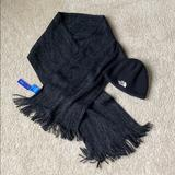 The North Face Accessories | Knit Scarf & The North Face Knit Hat | Color: Black/Gray | Size: Os