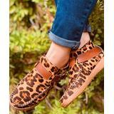 LoLa Shoes Women's Casual boots Leopard - Brown & Tan Leopard Buckle-Strap Ankle Boot - Women