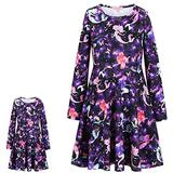 Matching Girls&Doll Dresses American Girls 18 inch Doll Kids Fall Winter Clothes,Size 6 7