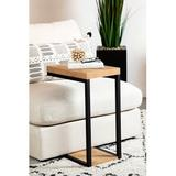 Ebern Designs Amza End Table Wood in Brown/Gray/Yellow, Size 25.5 H x 11.5 W x 17.75 D in | Wayfair 410AE3F4634547AFBE25E4F56C35CEC3