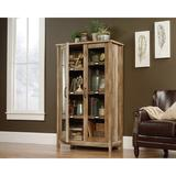 Millwood Pines Peralez Display Cabinet Wood in Brown, Size 60.38 H x 35.25 W x 17.5 D in | Wayfair DCBA2DDCB4D94271B20ABA6CD6D20755
