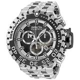 Invicta Men's Sea Hunter Swiss Quartz Diving Watch with Stainless Steel Strap, Black, 31.3 (Model: 34591)