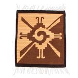 Wool area rug, 'Hunab Ku' (2x2)